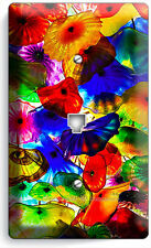 COLORFUL MURANO GLASS PHONE JACK TELEPHONE WALL PLATE COVER LIVING HOME DECOR