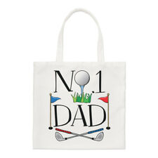 No.1 Dad Golf Small Tote Bag - Funny Father's Day Gift Present Sport