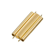 Seed Bead Slider Clasp Plain Gold Plated Beadslide 10x29mm (L80/7)