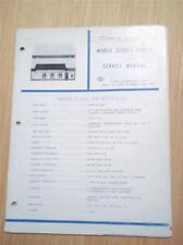 Craig Service Manual~C-502 Car Stereo 4-Track Player~Original Repair Manual