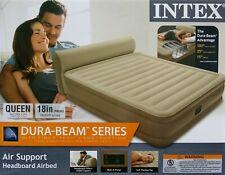 Intex Queen Airbed Inflatable Air Mattress Bed Built In Pump Pillow Top