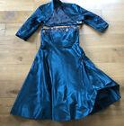 Kleid Abendkleid Ballkleid BOLERO Midi Satin Pailletten Grün Gr. 40 SIXTH SENSE