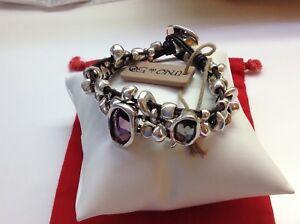 "NWT Uno de 50 Silver Plated/Swarovski Bracelet ""Lady Marmalade"" 6"""