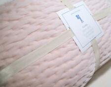 Pottery Barn Kids Pale Pink Blush Clara Velvet Hand Stitched Twin Quilt New