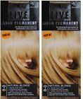 2 X SCHWARZKOPF LIVE SALON PERMANENT HAIR COLOUR 8-0 NATURAL BLONDE Brand New