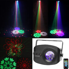 4 LED RGBW & RG Laser Patterns Stage Light Projector Remote Sound DJ Party Disco