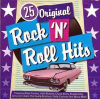 25 ORIGINAL ROCK `N` ROLL HITS - VARIOUS ARTISTS (NEW SEALED CD)