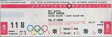 BIGLIETTO evento olimpico  - 1992 : SLALOM GIGANTE Uomini OLYMPIC GAMES ticket