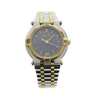 GUCCI 9000L Ladies Quartz Wristwatch Watch Stainless steel 0205366 32931