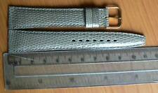18 mm COBRA Genuine Lizard Grey leather watch strap, EXOTIC SKIN Made in France