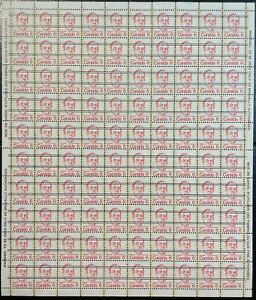 MNH full sheet SC#591xx precancel 6c Lester B Pearson
