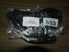 Joblot 2 x Power Cord European EU Plug R C13 Cable Kettle Lead New Black #553