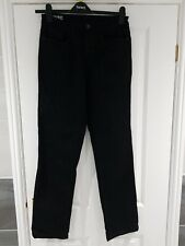 "Men's Straight Leg Black Jeans by GEORGE W 32"" L 33"""