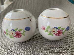 vintage porcelain ceramic bedknob finials lot of 2