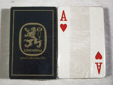 Vintage 1970's Lowenbrau Beer Blue Playing Cards Deck