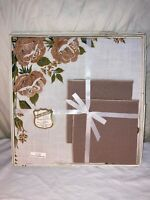 New Vintage Home Beautiful Linens By Vickie 40x40 Table Linen 4 Napkins Tea Set