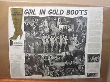 vintage Girl In Gold Boots original poster  9696