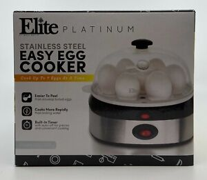 BNIB Elite Platinum Stainless Steel Easy Egg Cooker EGC-207