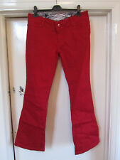 Star Julien Macdonald Red Flare Jeans in Size 14 - NWOT - L32