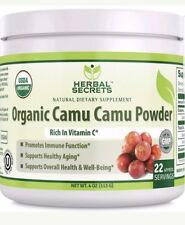 Herbal Secrets USDA Cerified Organic Camu Camu Powder 4 oz 113 G (22 Approx S...