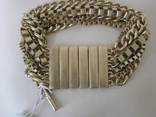 Kenneth Cole Gold Tone 7-Row Chain Stretch Bracelet