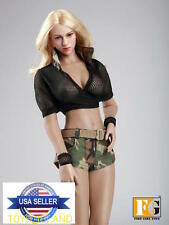 1/6 Military Mesh Outfits Jeans Shorts Set For Phicen Hot Toys Female Figure