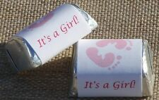 30 ITS A GIRL FOOTPRINTS BABY SHOWER PARTY HERSHEY NUGGETS LABELS FAVORS DECALS
