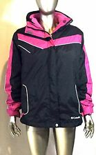 Columbia Jacket Youth Size 18/20, col black and pink with fleece lining