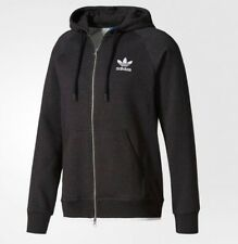 NEW MEN'S ADIDAS ORIGINALS ESSENTIALS FLEECE TREFOIL ZIP HOODIE ~ LARGE  #BR2100