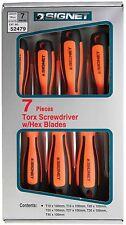 Signet 7 piezas Set Destornillador Torx verde y asas de Naranja S52479