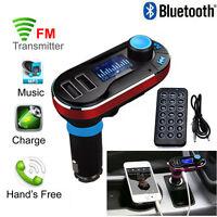 Bluetooth Auto FM Transmitter Sender PKW MP3 Musik Player USB Stick SD TF Rot