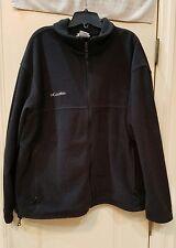 Columbia Men's Black Fleece Full Zip Jacket Pull String Waist 2XL XXL XXLARGE NR