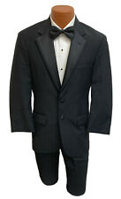 Men's Black Ralph Lauren Newport Tuxedo with Pants Prom Wedding Mason 40L 34W