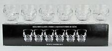 Skull Shot Glass Set of (6) 1.5oz Glasses Hallows Eve Halloween Spooky Parties