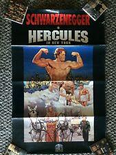 Schwarzenegger Is Hurcules In New York ORIGINAL Movie Poster MPI Home Video