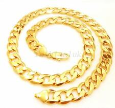 "24K Yellow Gold Plated Vintage Big Men Chunky Heavy Chain Necklace 23.5 "" 60cm"
