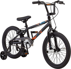 Mongoose Switch BMX Bike for Kids, 18-Inch Wheels, Includes Removable Training ,