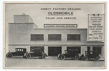 1920s Oldsmobile Advertising Card from Madison Square Garage Baltimore MD