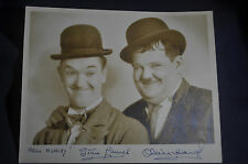 "*AUTHENTIC* SIGNED* Photo Laurel & Hardy by Bud ""Stax' Graves"