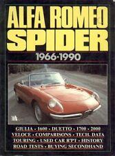 ALFA ROMEO SPIDER S1 Boattail S2 S3 S4 (1966 - 1990) periodo di prove su strada LIBRO