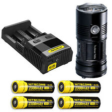 Nitecore TM06S Flashlight XM-L2 U3 -4000Lm w/SC2 Charger & 4x NL183 Batteries