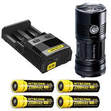 Nitecore TM06S Flashlight XM-L2 U3 -4000Lm w/SC2 Charger & 4x NL183 Batteries
