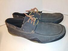 Dolce Gabana D&G Nubuck Brown Black Shoes Boat Laces Mens Size 43 Italy