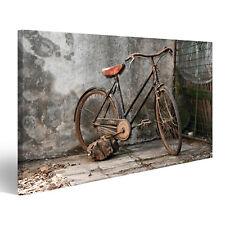 Bild Bilder auf Leinwand altes rostiges Fahrrad über einem grunge Hint IYW-1K