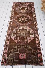 Roksana Brown Pink Handwoven Turkish Hallway Corridor Runner Rug 230x90