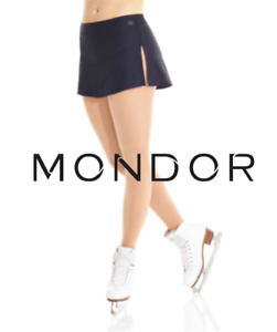 MONDOR Black Shiny Nylon Flat Figure Skating Skirt Multiple Sizes NEW