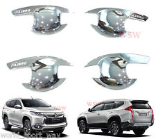CHROME BOWL INSERT HANDLE COVER FOR NEW MITSUBISHI PAJERO SPORT 4DR SUV 2016 ON