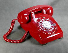 Western Electric Vintage Red Rotary Dial Desk Telephone Model C/D 500 Restored