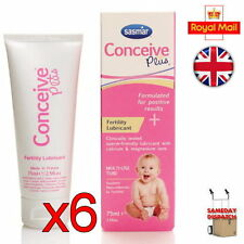 New 6x Sasmar Conceive Plus Fertility Lubricant Sperm Friendly 75ml Brand New UK