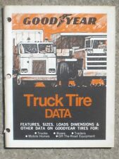 Goodyear Tire & Rubber Co. 1970 Truck Tire Data booklet